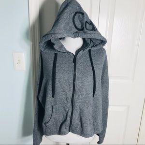 Calvin Klein Grey Performance Zip Up Hoodie Medium